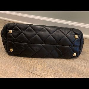 Michael Kors Bags - MK black quilted leather tote bag